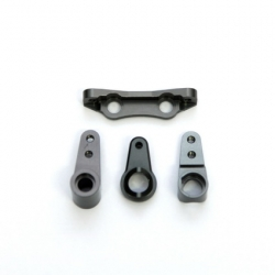 STRC CNC Machined Alum. Precision Steering Rack set (Gun Metal)
